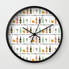 Aperol to My Spritz Wall Clock