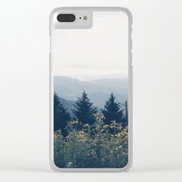 the mountain air Clear iPhone Case