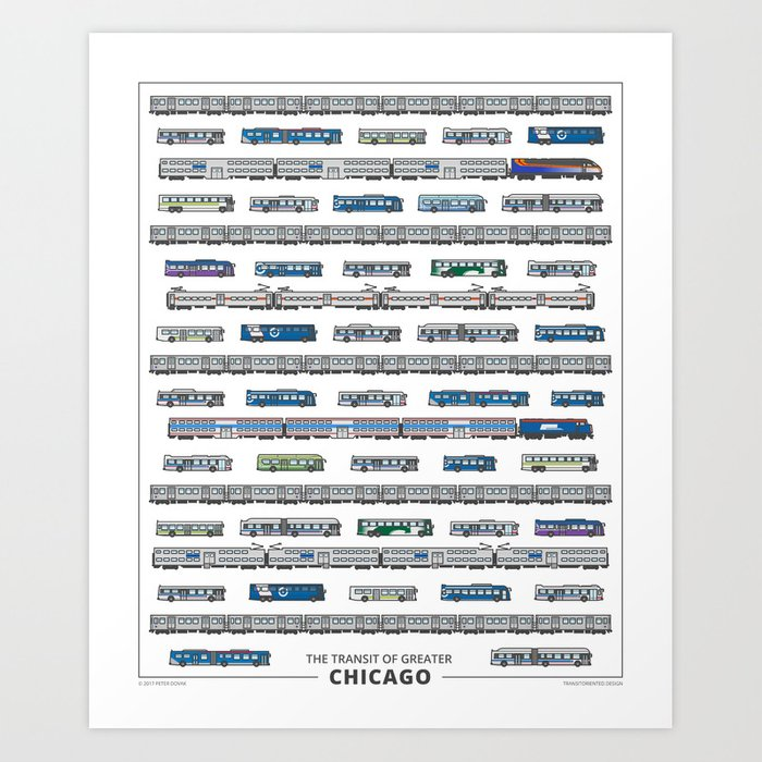 The Transit of Greater Chicago Art Print