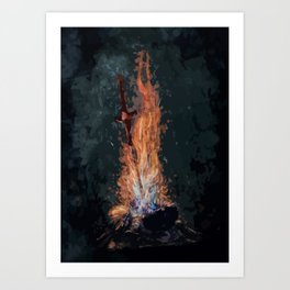 A bonefire Art Print