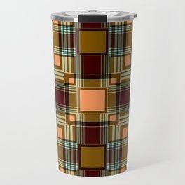Brown abstract Checkered pattern . Travel Mug
