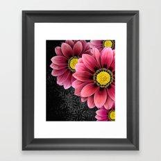 zany flowers Framed Art Print