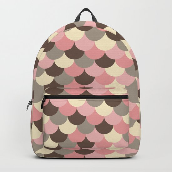 Strawberry Mouse Fish Scale Pattern Backpack
