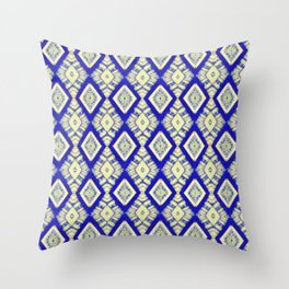 casa blanca in blue Throw Pillow