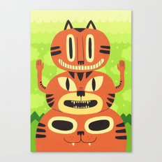 Totem Cat Canvas Print