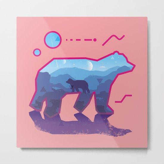 BEAR ~ Sign::dimension Metal Print