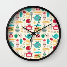 Kitchen Pattern Wall Clock