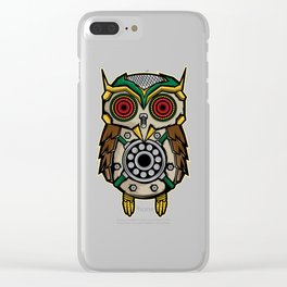 Owl Lover? A Perfect Owls Tee For You Made of Tools Owlet T-shirt Design Nocturnal Night Birdline Clear iPhone Case