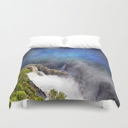 Wild waterfall in abstract Duvet Cover