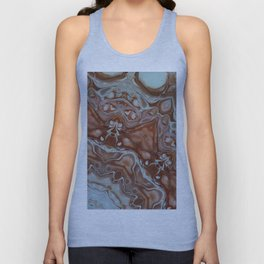 Beautiful Rose Gold and Pink Digital Art Pretty Artistic Unisex Tank Top