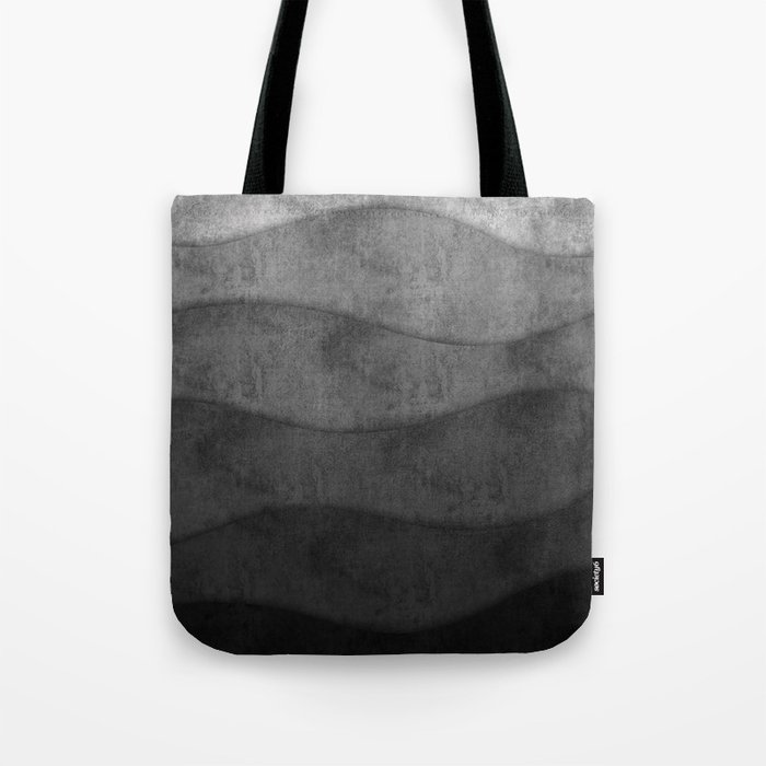 Monochrome waves Abstract modern art Tote Bag
