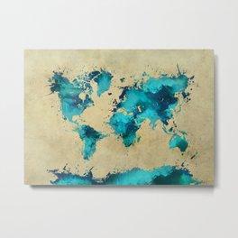 world map 38 Metal Print