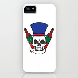 Fierce and creative skull tee design. Makes a nice and unique gift to your loved ones too!  iPhone Case