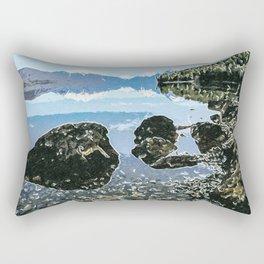 Rocks in the lake Rectangular Pillow