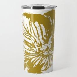 Minimal Yellow Travel Mug