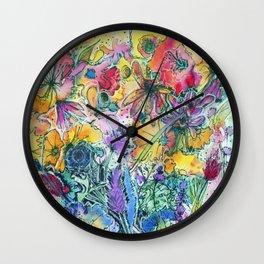 Flower Maze Wall Clock