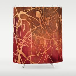 Abstract No. 184 Shower Curtain