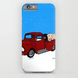 Best Labrador Buddies In Old Red Truck iPhone Case