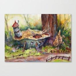 House in a turtleshell Canvas Print