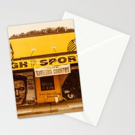 Pittsburgh Sports Pride Strip District City Print Stationery Cards