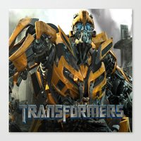 transformers Canvas Prints featuring transformers by store2u