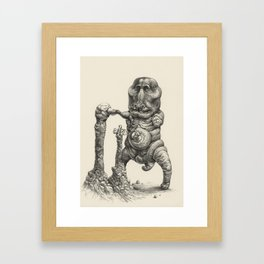 Cyanominoid Sipping Microtubules with their Umbilical Mouths, No.1 Framed Art Print