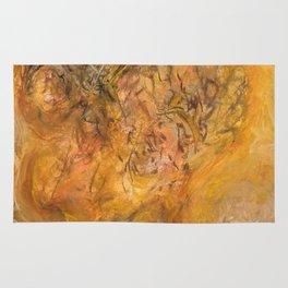 """Abstract Orange Skull Art """"The Other Side of Love"""" inspiredbyjeneva Rug"""