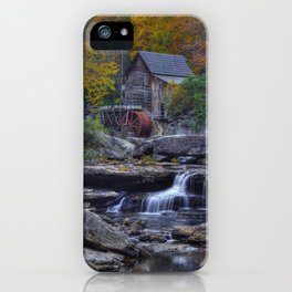 Glade Creek Grist Mill in Autumn iPhone Case