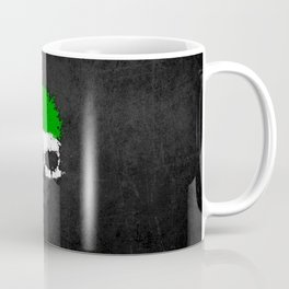 Flag of United Arab Emirates on a Chaotic Splatter Skull Coffee Mug
