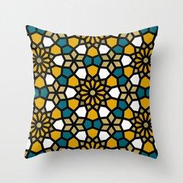 Persian Mosaic – Marigold Palette Throw Pillow