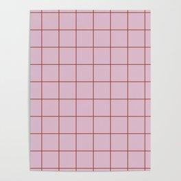 Citymap Grid - Lilac/Rust Poster