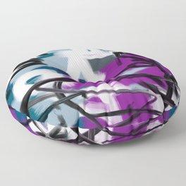 Purple & Teal Smoky Abstract Floor Pillow