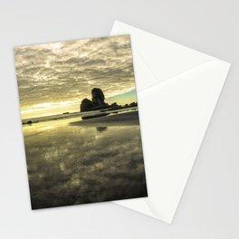 Before Sunset Motukiekie Beach Pano In Greymouth West Coast New Zealand By Olena Art Stationery Cards