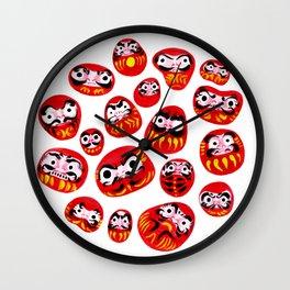 Japanese Daruma Characters Wall Clock