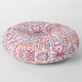 Natural Rhythm - a hand drawn pattern in peach, mint & aqua Floor Pillow