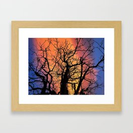 A Fire In The Sky Framed Art Print