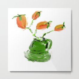 red rosehip berry Metal Print