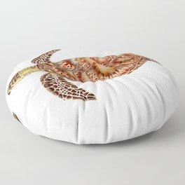 Green turtle Chelonia mydas Floor Pillow