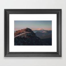 Silver Star Framed Art Print