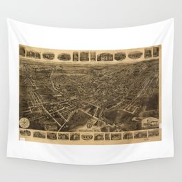 Aerial View of Middletown, New York (1921) Wall Tapestry
