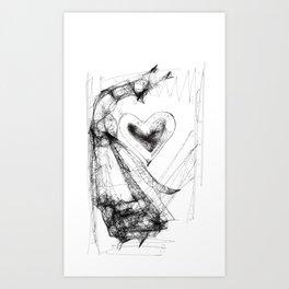 Dancing Mrs Fox Art Print