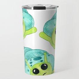 Snail Contemplates Travel Mug