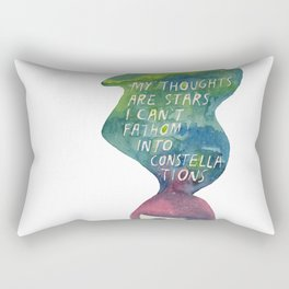 Thoughts Are Constellations Rectangular Pillow