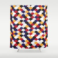scales Shower Curtains featuring Scales by Daisho