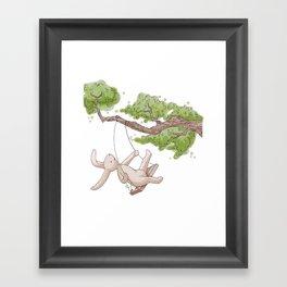Swing Low Sweet Bunny Framed Art Print