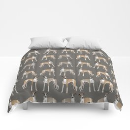 Whippet Love Pattern Comforters