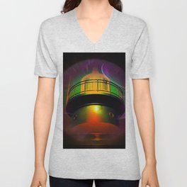 Lighthouse romance - Abstract in perfection  Unisex V-Neck