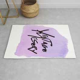 Vintage Misery - Mania Purple Rug