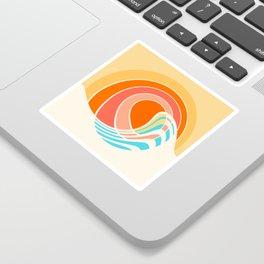 Sun Surf Sticker