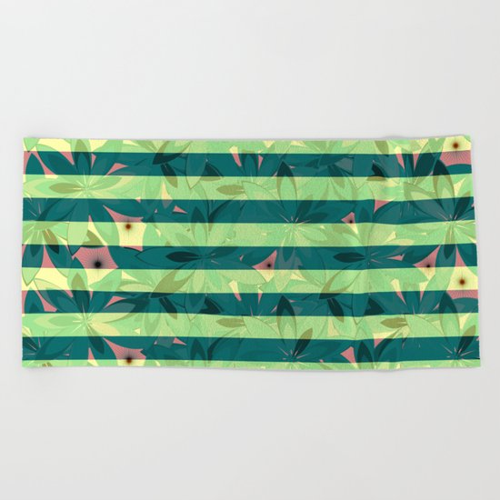 Vegetation-stripes Beach Towel
